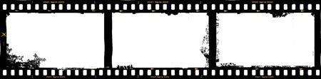 frames van de film, grungy foto frames, met gratis exemplaar ruimte, vector illustration