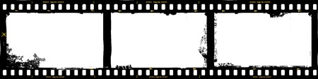 frames of film, grungy photo frames,with free copy space,vector illustration
