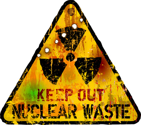 nuclear waste: nuclear waste warning, vector illustration, fictional artwork