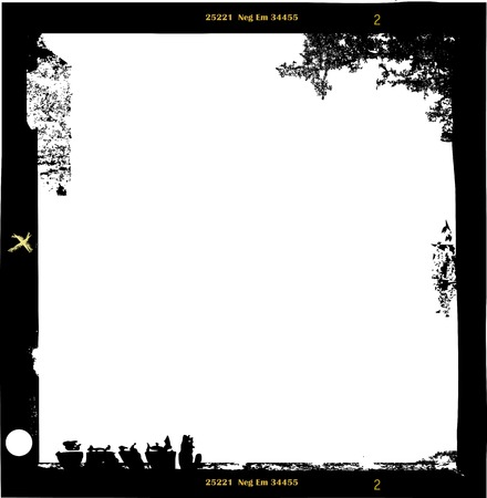 medium frormat empty photo frame,with free copy space,vector illustration