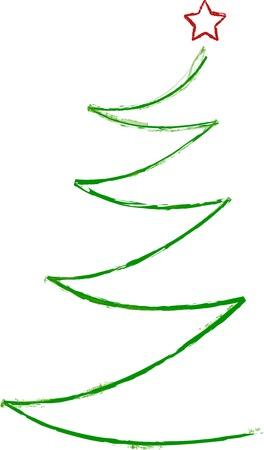 garabatos: Resumen �rbol de Navidad, vector Vectores