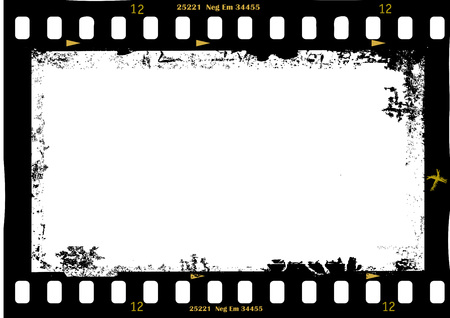 photo film: frame of film, grungy photo frame,with free copy space,vector illustration