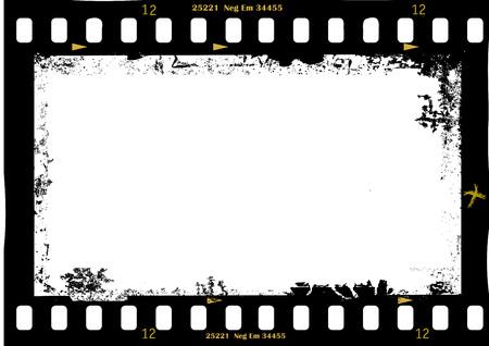 kader van de film, grungy fotolijst, met gratis exemplaar ruimte, vector illustration