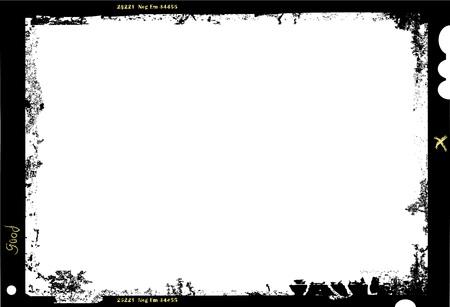 cinta pelicula: gran marco de fotos hoja de película de formato, con copia espacio libre, ilustración vectorial Vectores
