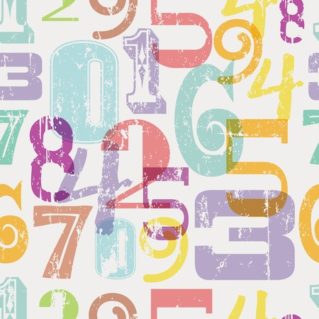 numbers abstract: seamless pattern numbers, abstract background