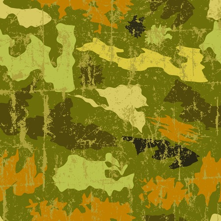 fictional: seamless grungy camouflage pattern, vector, fictional artwork Illustration