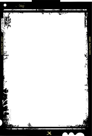 large format film sheet photo frame,with free copy space,vector illustration Illustration