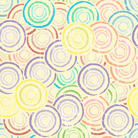 fictional: seamless circle background pattern, grungy style, vector,fictional artwork