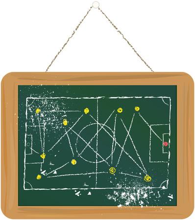 tactics: Soccer Football tactics on blackboard template,free copy space