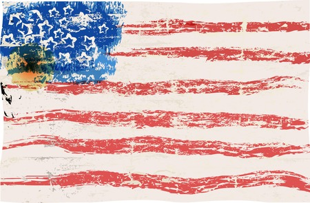 grungy: grungy USA flag, vector illustration