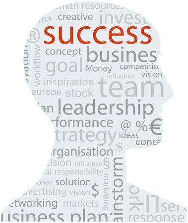 success business: business success concept, with word, tag cloud, vector illustration