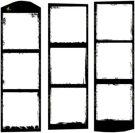 medium: frames of medium format film, grungy photo frames,with free copy space,