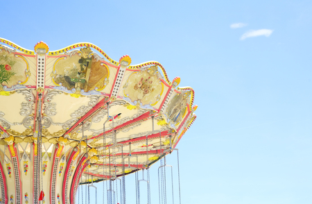 chairoplane: vintage chairoplane, carousel , free copy space