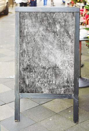 sandwich board: billboard, sandwich board, free copy space Stock Photo
