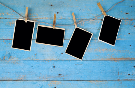 deckle: photo frames, free space for your pics or copy Stock Photo