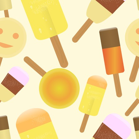 ice lolly: seamless ice lolly stick background patterm, vector