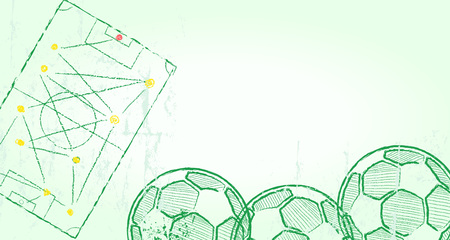 grass land: Football or Soccer design template, good copy space, vector Illustration