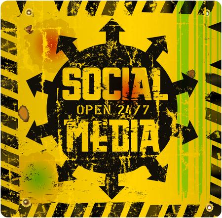 wikis: retro social media sign,vector artwork