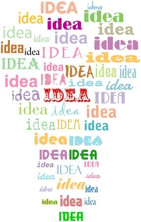 bulb light: Light bulb idea concept, grungy, isolated on white background.. Vector illustration.