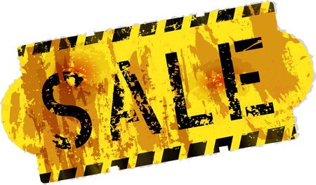 grungy sale sign, vector