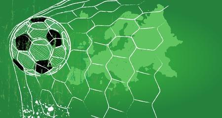 ballon foot: Soccer  Football modèle de conception, carte europe, copie espace libre, vecteur Illustration