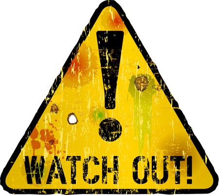 icono ordenador: cuidado con signo, señal de peligro, ilustración vectorial