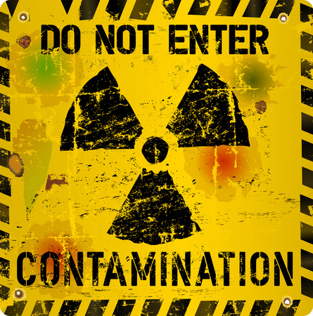 contamination: Radioactive contamination warning, vector illustration
