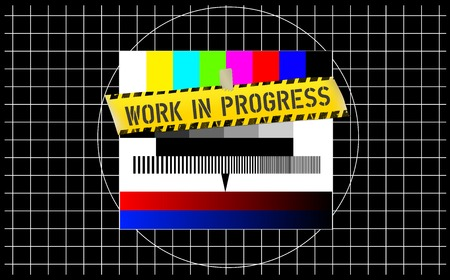 website maintenance sign, test pattern, vector