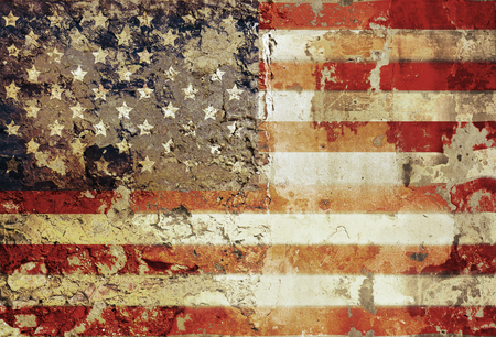grungy american flag, stars and stripes