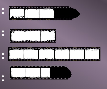 contact sheet: frames of film, grungy blank film stripes, contact sheet, copy space