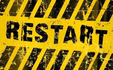 beginnings: restart sign. Grungy vector