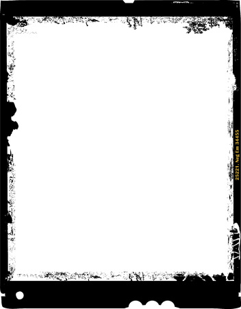 large format film sheet photo frame,with free copy space,grungy vector 向量圖像
