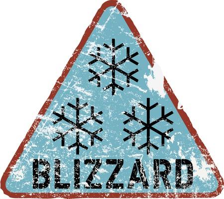 winter warning sign, vector illustration, fictional artwork