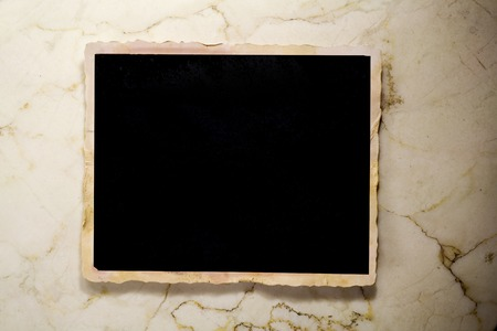 pics: old grungy photo frame, free space for pics Stock Photo
