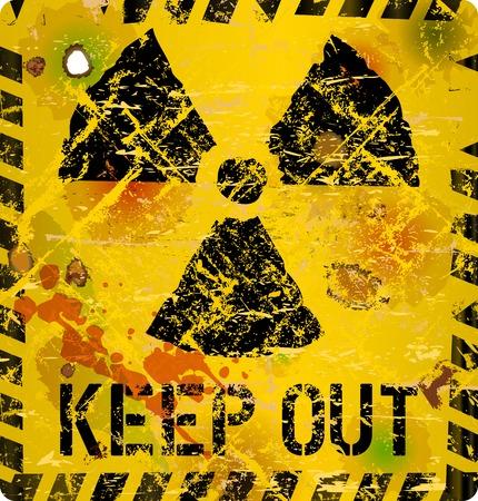 caution chemistry: Radiation warning sign, vector illustration