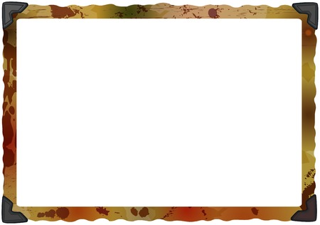 deckle: empty grungy photo frame with photo corners, copy space, vector illustration Illustration
