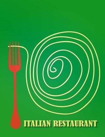 temlate: menu design template for italian restaurant, copy space