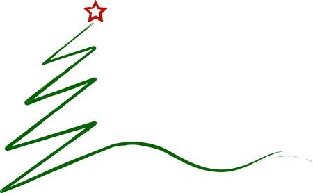 albero di Natale astratto, isolato su bianco, vettore Vettoriali