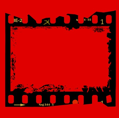 frame of film, grungy photo frame,with free copy space,vector