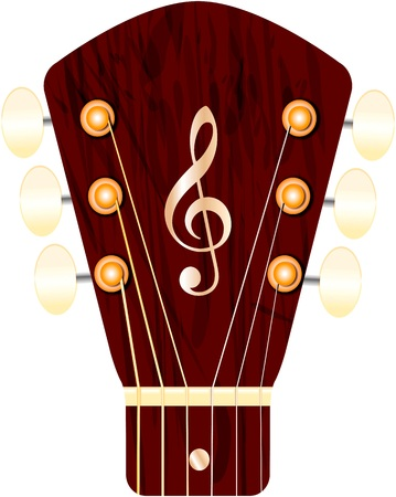 headstock: headstock of a guitar, free copy space Illustration
