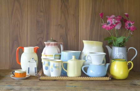 household objects: vintage kitchenware, good copy space
