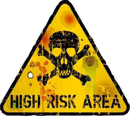 high risk area, internet security, vector illustration