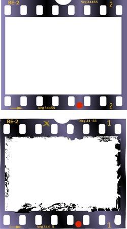 photo frames: frames of film, grungy photo frames,vector illustration