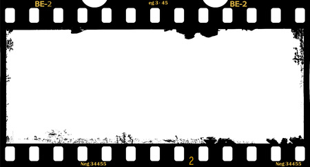 frame of film, grungy panorama  photo frame, free space for your pix