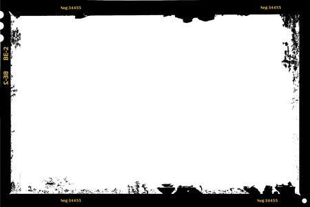grungy large format film sheet negative, 6 x 9 centimeters, photo frame, vector Иллюстрация