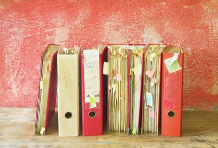 disorganization: messy file folders and documents,good copy space