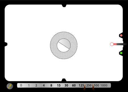Camera viewfinder, with free space for your pics.