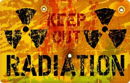 Radiation warning, vector illustration