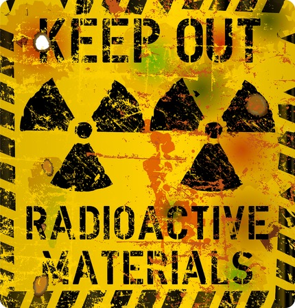 Radiation signe d'avertissement, illustration vectorielle