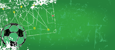 tactics: Soccer  Football design template,free copy space, vector Illustration